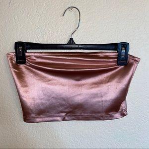 Pink metallic tube top